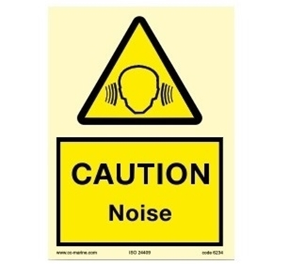 Picture of Warning sign-Caution noise 15x20