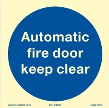 Autom. fire door keep clear 15x15