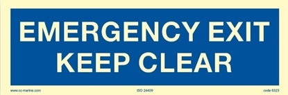 Picture of Emergency exit keep clear 30x10