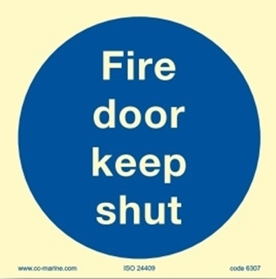Picture of Fire door keep shut, 15x15
