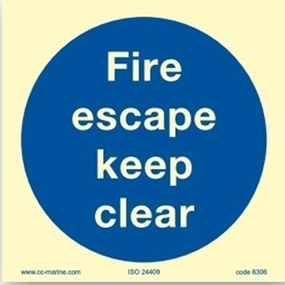 Picture of Fire escape keep clear 15x15