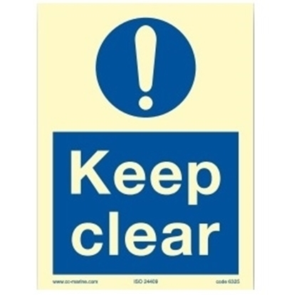 Picture of Keep clear 15x20