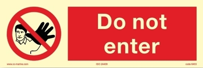 Picture of Prohibition Sign-do not enter 30x10
