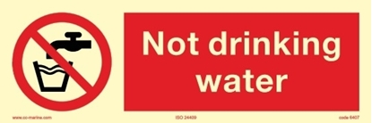 Picture of Prohibition Sign-d.not drink 30x10