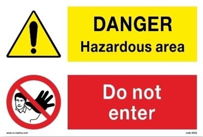 Picture of Multipurpose sign-Danger haz. area/do not enter 30x20