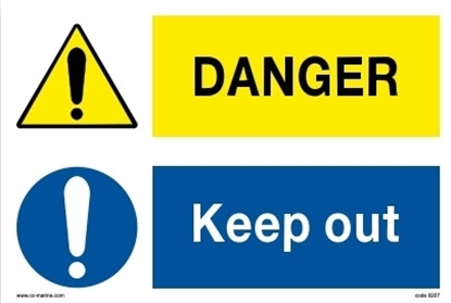 Picture of Multipurpose sign-Danger/keep out 30x20
