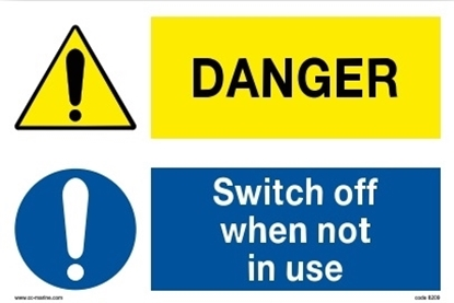 Multipurpose sign-danger/switch off...30x20