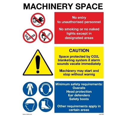 Picture of Multipurpose sign-Machinery space 40x30