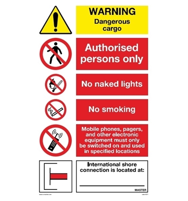 Multipurpose sign-Warning dangerous cargo 50x90