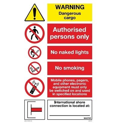 Multipurpose sign-Warning dangerous cargo 50x90