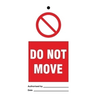Picture of Tags-Do not move 7.5x15