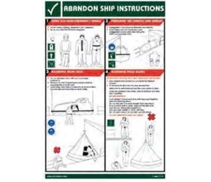 Picture of Training Poster-Abandon ship ins.