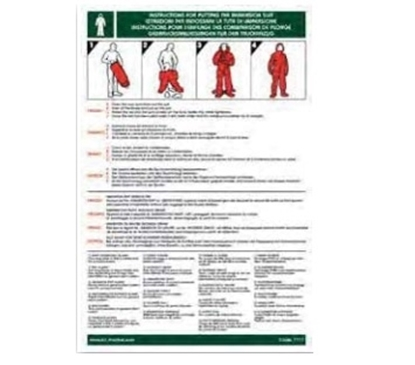 Picture of Training Poster-immersion suit instructions