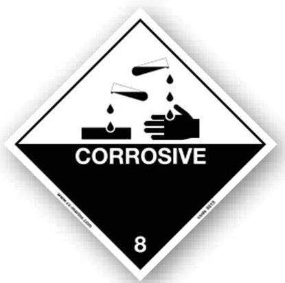 Class Sign- corrosive 25x25
