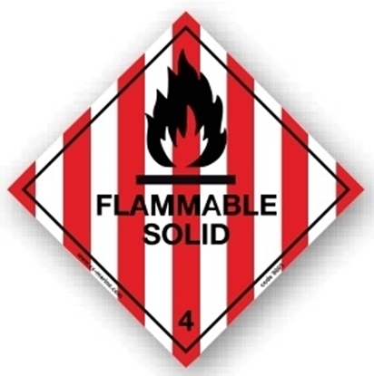Picture of Class Sign- flamable solid 25x25