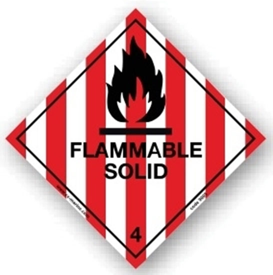Class Sign- flamable solid 25x25