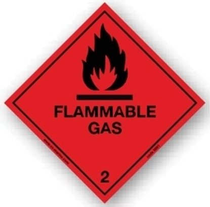Class Sign- flammable gas 25x25