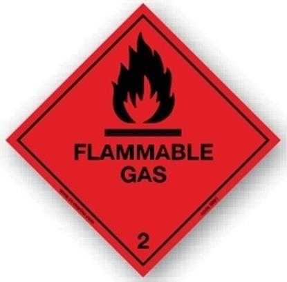 Class Sign- flammable gas 25x25