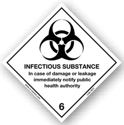 Picture of Class Sign- infectious substance 25x25