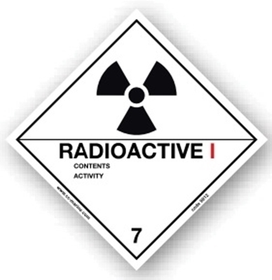 Picture of Class Sign- radioactive I 25x25