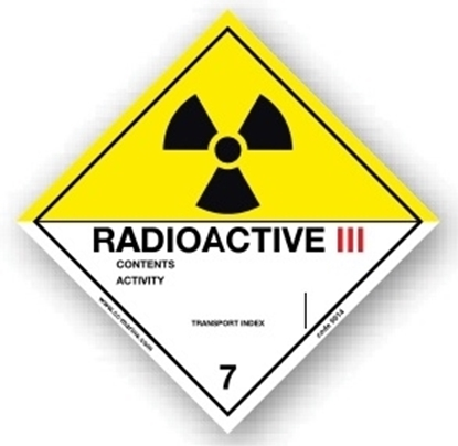 Picture of Class Sign- radioactive III 25x25