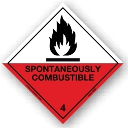Picture of Class Sign- spontaneously comnbustible 25x25