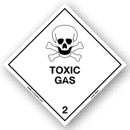 Picture of Class Sign- toxic gas 25x25