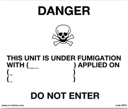 Picture of Fumigation warning sign- 30x25