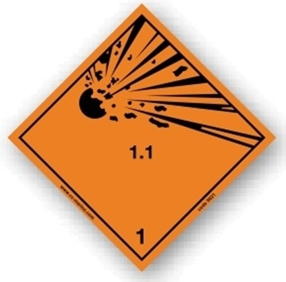 Picture of Class sign explosive 1.1