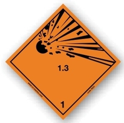 Picture of Class sign Explosive 1.3