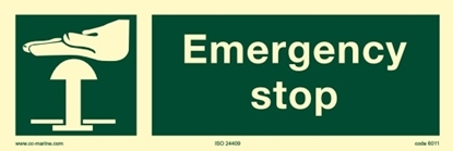 Picture of IMO Sign-emer stop 30x10