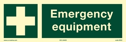 IMO Sign-emergency equip 30x10