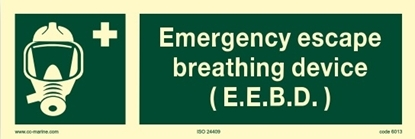 IMO Sign-emergency escape breathing device 30x10