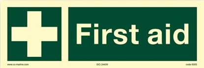 IMO Sign-first aid 30x10