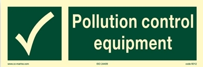 IMO Sign-pollution control equipment 30x10