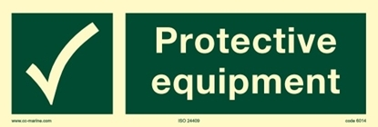 Picture of IMO Sign-protective equipment 30x10