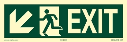 Picture of IMO Sign-exit down sx 30x10
