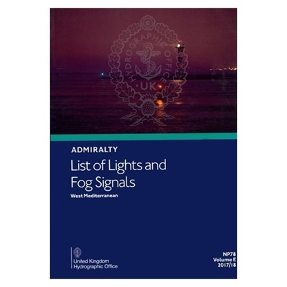 Admiralty List of Lights and Fog Signals Vol(E)