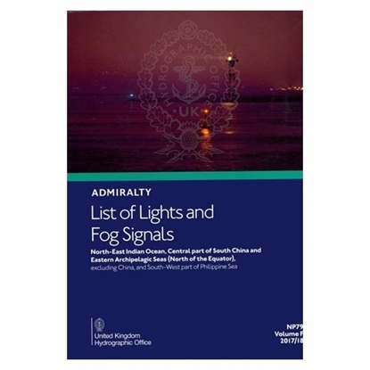 Admiralty List of Lights and Fog Signals Vol(F)