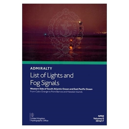Admiralty List of Lights and Fog Signals Vol(G)