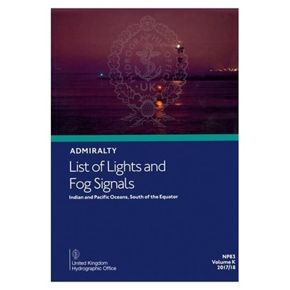 Admiralty List of Lights and Fog Signals Vol(K)