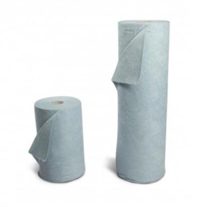 Lightweight oil absorbent roll