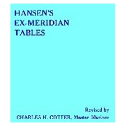 Picture of Hansen's Improved Ex-Meridian Tables