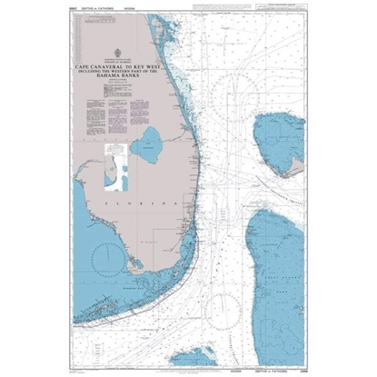 Picture of Cape Canaveral to Key West including the Western Part of the Bahama Banks