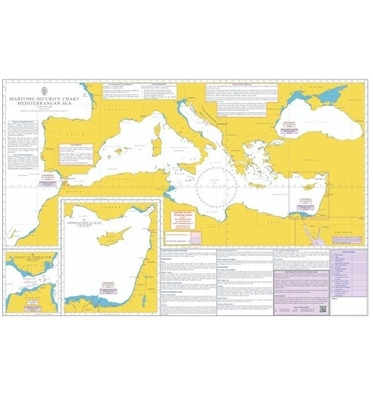 Picture of MARITIME SECURITY CHART - MEDITERRANEAN SEA