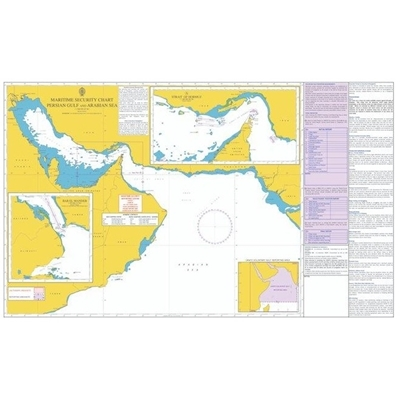 Picture of MARITIME SECURITY CHART - PERSIAN GULF and ARABIAN SEA