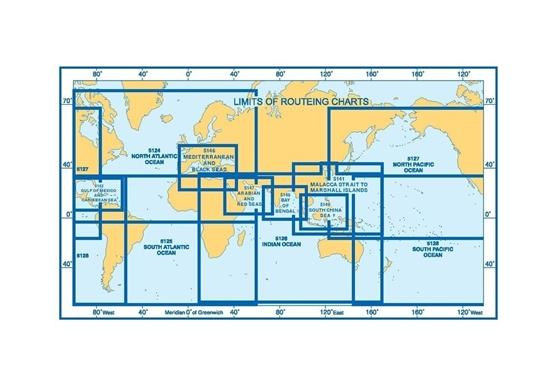 SOUTH ATLANTIC OCEAN ROUTEING CHART (September)