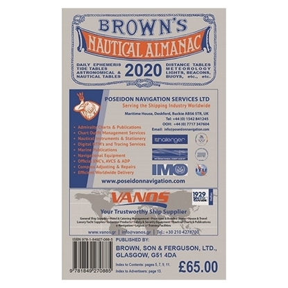 Picture of Brown's Nautical Almanac 2020