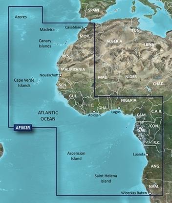 África Ocidental, Açores, Ilhas Canárias (VAF 003R)